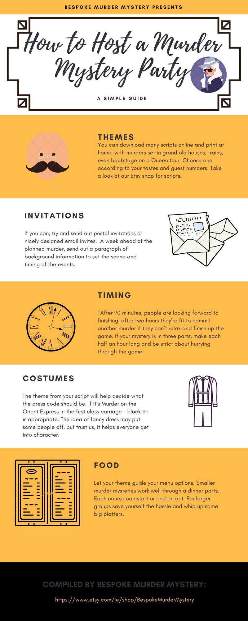 Top tips to host a murder mystery party