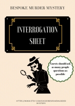 Interrogation Sheet